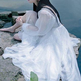 Glaypio - Long-Sleeve Maxi Dress