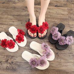 Meguro - Flower Flip-Flops