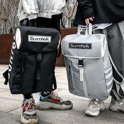 SUNMAN - Lettering Buckled Lightweight Backpack