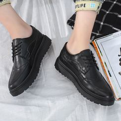 Tanzanite - 厚底系带鞋