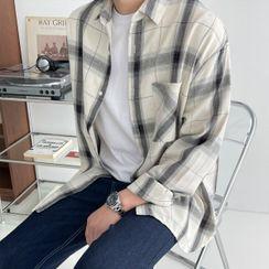 Seoul Homme - Pocket-Front Plaid Shirt