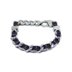 Kenny & co. - Leather Screw In Steel Bracelet