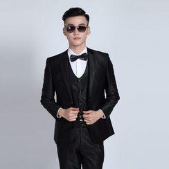 Tsuka - 套裝: 單排扣西裝外套 + 西褲