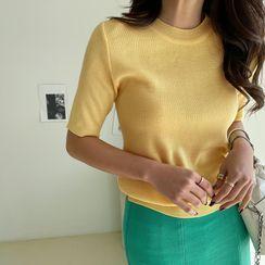 NANING9 - Short-Sleeve Knit Top