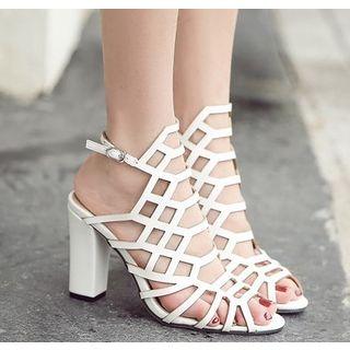 Niuna - Chunky Heel Roman Sandals