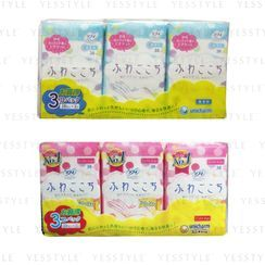 Unicharm - Sofy Fluffy Liners 14cm 38 pcs x 3 - 2 Types