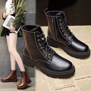 Yuki Yoru - Faux Leather Short Boots