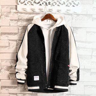JORZ - Color Block Corduroy Baseball Jacket
