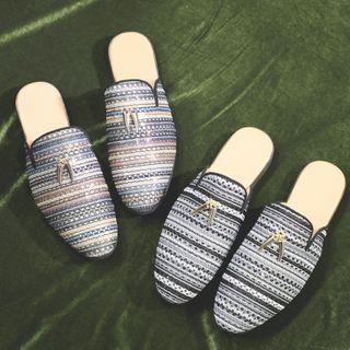 Pikkolo - Striped Knit Mules