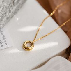 MOMENT OF LOVE - Hoop Pendant Stainless Steel Necklace