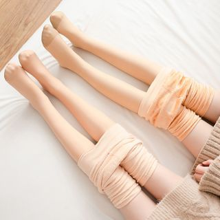 Nikkocampus - Plain Fleece-Lined Shaping Tights