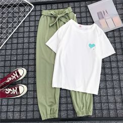 DazTRUE - Set: Short-Sleeve Printed T-Shirt + Sweatpants