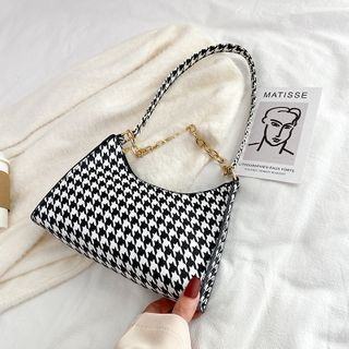 Lizzy - Houndstooth Handbag
