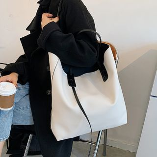 NewTown - Faux Leather Tote Bag