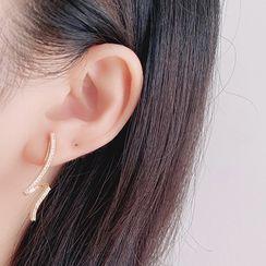 Mimishi - Rhinestone Clip-On Earring
