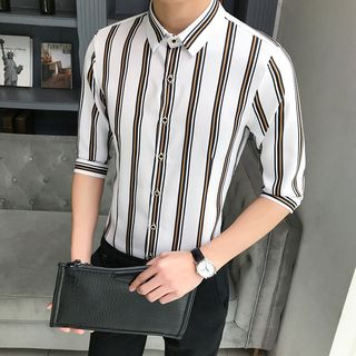 Andrei - Elbow-Sleeve Striped Shirt