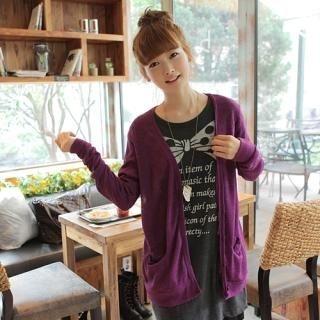 CLICK - Long-Sleeve Knit Cardigan