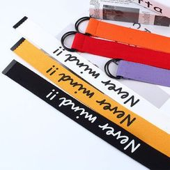 Rofuka - Lettering Canvas Belt