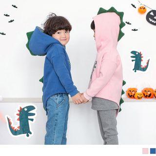 OrangeBear - 亲子款厚磨毛趣味恐龙烫印棉质上衣