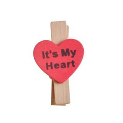 ioishop - Set of 5: Love Wooden Peg