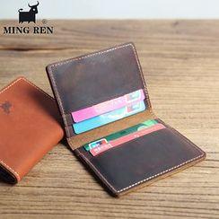 Wavecho(ウェーブチョ) - Genuine Leather Card Holder