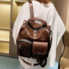 della renna - Convertible Faux Leather Backpack