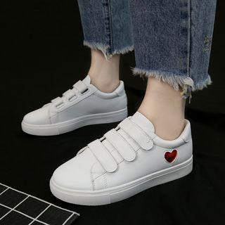 Mowin - Adhesive Strap Platform Sneakers