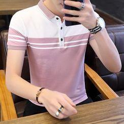 Andrei - Striped Short-Sleeve Polo Shirt