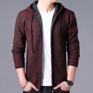 Sheck - Melange Hooded Zip Knit Jacket