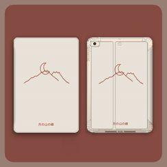 Roccia - Moon & Mountain Print iPad Case