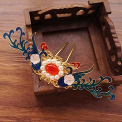 KOSUKE - Phoenix Beaded Head Piece / Necklace