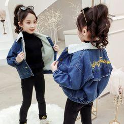 Spring Foresta - 小童字母刺繡牛仔夾克