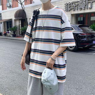 Oakjam - Short-Sleeve Striped T-Shirt