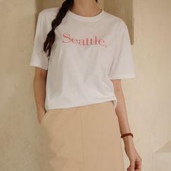 JUSTONE - 'Seattle' Cotton T-Shirt