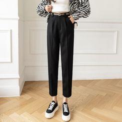 Dragan Pulse - Plain Slim-Fit Dress Pants