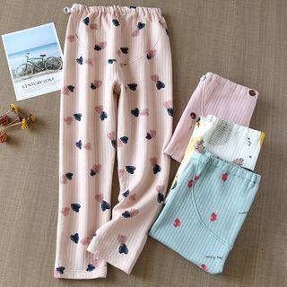 MelMount - Heart Print Pajama PAnts