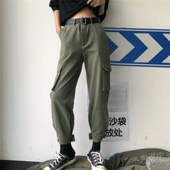 Dear Yours - Cropped Cargo Harem Pants
