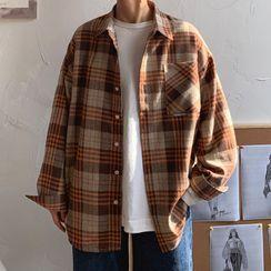 YERGO - 长袖格纹衬衫