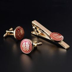 Prodigy - Chinese Wedding Tie Clip / Cufflinks