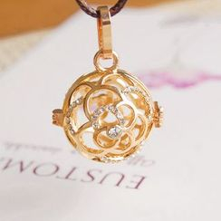 Nisen - Rhinestone Copper Fragrance Sachet Pendant Necklace