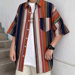 Tonni's - Elbow-Sleeve Striped Shirt