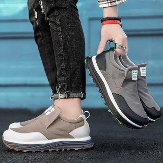 JACIN - Contrast Color Slip-On Sneakers