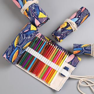 Fun House - Printed Canvas Rolling Pencil Case