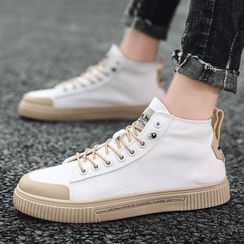 JACIN - Lace Up High-Top Canvas Sneakers