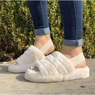 Poski - Furry Platform Sandals