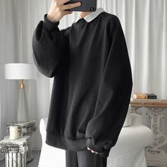 JUN.LEE - Collared Pullover