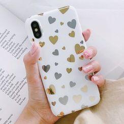 Aion - Metallic Heart Mobile Case - iPhone X / 8 / 8 Plus / 7 / 7 Plus / 6S / 6S Plus