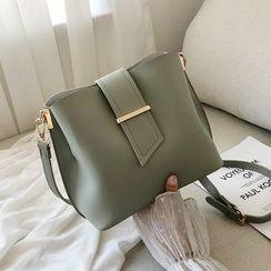 Nautilus Bags - Plain Faux Leather Bucket Bag