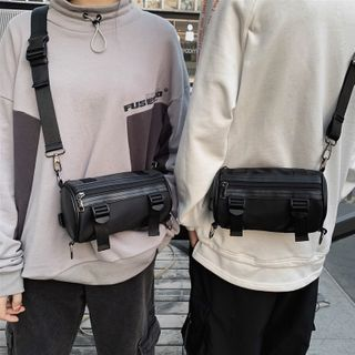 EAVALURE - Nylon Barrel Crossbody Bag