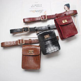 YUMINA - Faux Leather Belt Bag